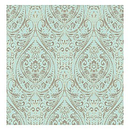 WallPops!® NuWallpaper™ Nomad Damask Peel & Stick Wallpaper in Turquoise