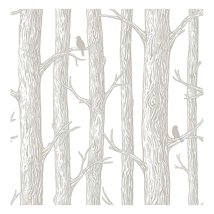 Alternate image 1 for NuWallpaper™ The Forest Peel & Stick Wallpaper in Grey
