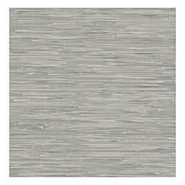 Nuwallpaper™ Tibetan Grasscloth Peel And Stick Wallpaper in Grey