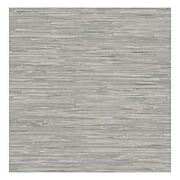 Nuwallpaper™ Tibetan Grasscloth Peel And Stick Wallpaper in Grey