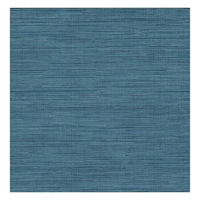 Grasscloth Wallpaper In Sea Grass Blue