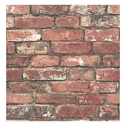 Brewster Home Fashions Loft Brick Wallpaper in Red