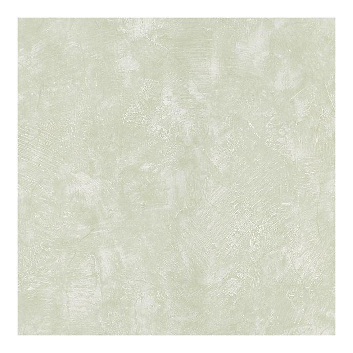 Alternate image 1 for Distressed Texture Peel & Stick Wallpaper in Stegner Green