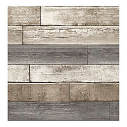 A-Street Prints Reclaimed Weathered Plank Wallpaper in Grey