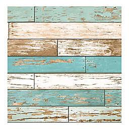 A-Street Prints Scrap Wood Wallpaper in Turquoise