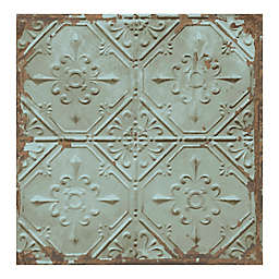 A-Street Prints Reclaimed Tin Ceiling Wallpaper in Teal