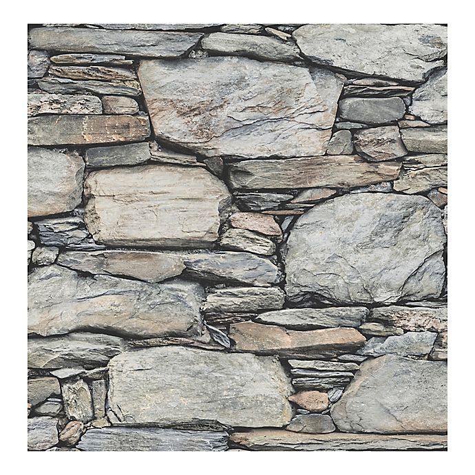 Alternate image 1 for A-Street Prints Reclaimed Stone Wallpaper in Grey