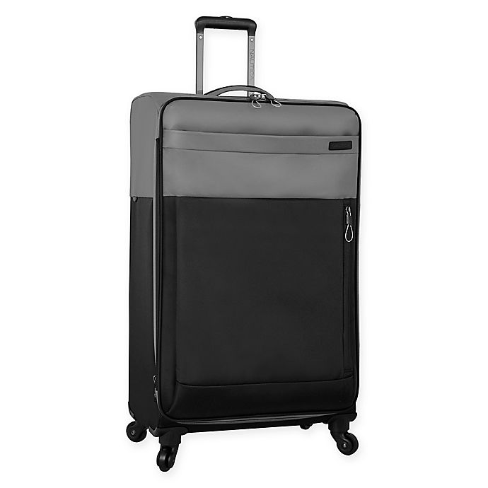 Alternate image 1 for Nautica® Harpswell 28-Inch Spinner Checked Luggage in Grey/Black