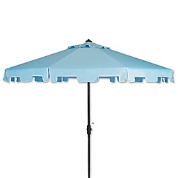 Safavieh UV Resistant Zimmerman 9-Foot Crank Market Umbrella with Flap
