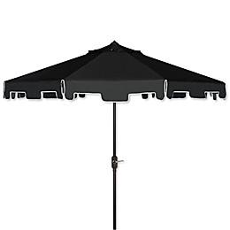 Safavieh UV Resistant Zimmerman 9-Foot Crank Market Umbrella with Flap
