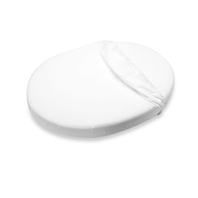 Alternate image 1 for Stokke® Sleepi™ Mini Fitted Sheet in White