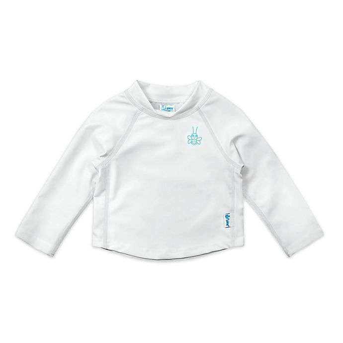 Alternate image 1 for i play.® Size 24M Long Sleeve Rashguard in White