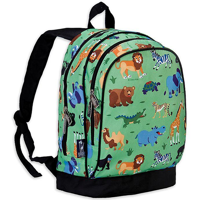 Alternate image 1 for Olive Kids Wild Animals Sidekick Backpack in Green