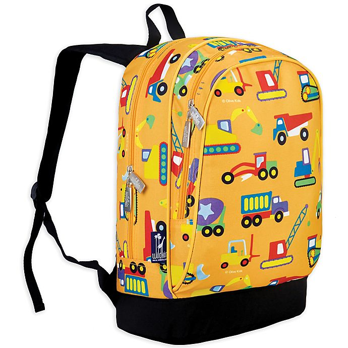Alternate image 1 for Olive Kids Under Construction Sidekick Backpack in Yellow