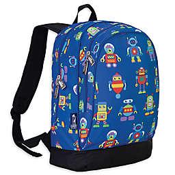 Olive Kids Robots Sidekick Backpack in Blue