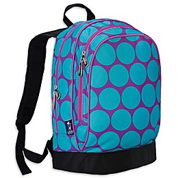 Wildkin Big Dot Aqua Sidekick Backpack in Purple