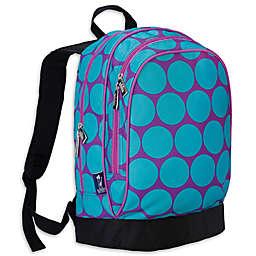 Wildkin Big Dot Aqua Sidekick Backpack in Purple