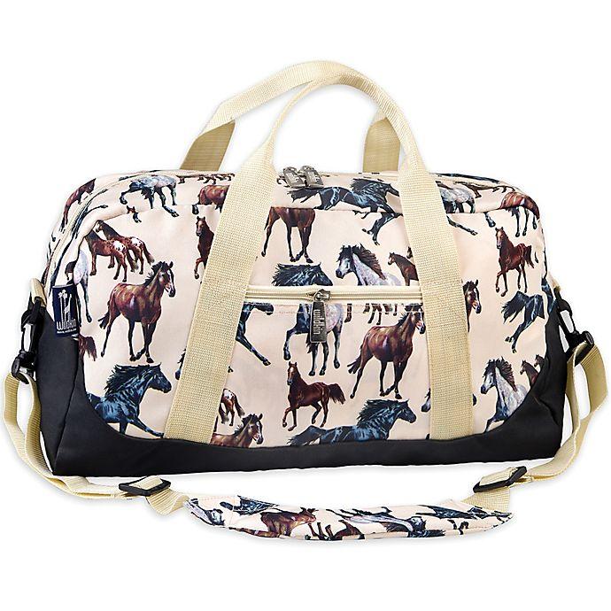 Alternate image 1 for Wildkin Horse Dreams Duffel Bag in Tan