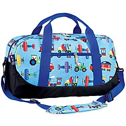 Olive Kids™ Trains, Planes, & Trucks Duffel Bag in Blue