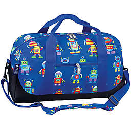 Olive Kids Robots Duffel Bag in Blue