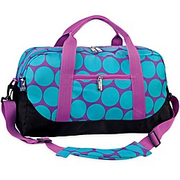 wildkin Big Dot Aqua Duffle Bag in Purple