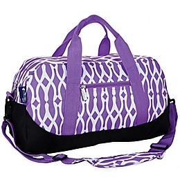 wildkin Wishbone Duffle Bag in Purple