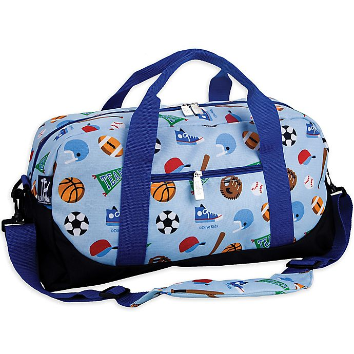 Alternate image 1 for Olive Kids Game On Duffle Bag in Blue