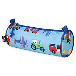 Olive Kids Trains, Planes and Trucks Pencil Case in Blue
