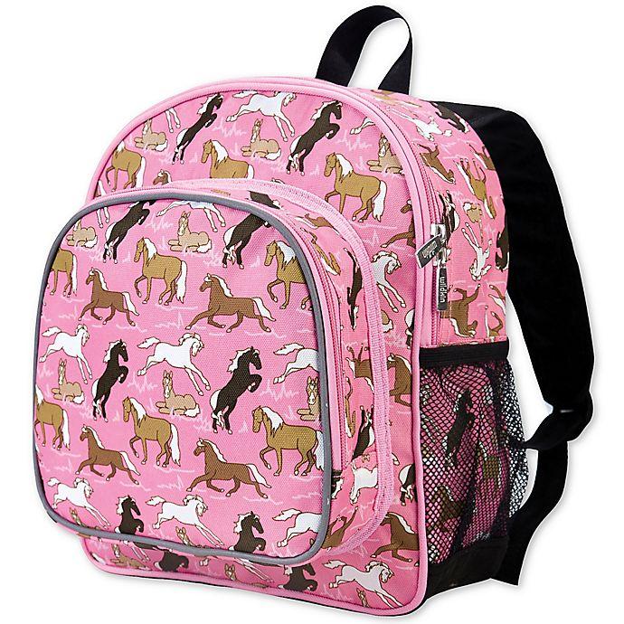 Alternate image 1 for Wildkin Horses Pack 'N Snack Backpack in Pink