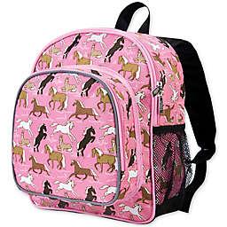 Wildkin Horses Pack 'N Snack Backpack in Pink