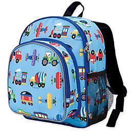 Olive Kids Trains, Planes Pack 'N Snack Backpack in Blue