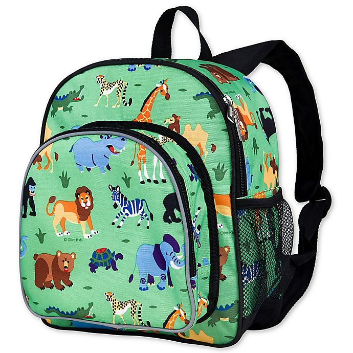 Alternate image 1 for Olive Kids Wild Animals Pack 'N Snack Backpack in Green