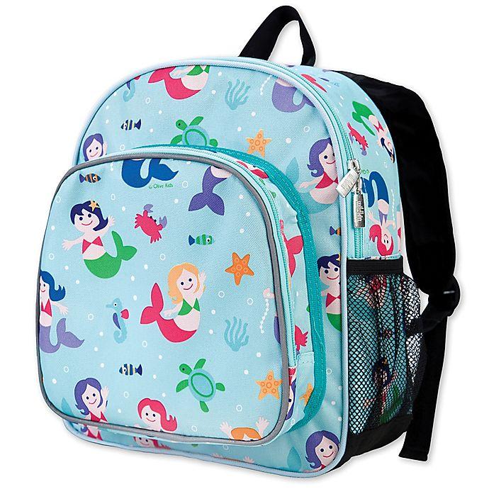 Alternate image 1 for Olive Kids Mermaids Pack 'N Snack Backpack in Blue