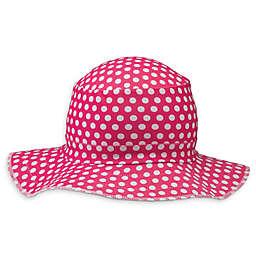39e6a9a6979 Swimlids Size 2-7T Funky Polka Dots Bucket Hat in Pink