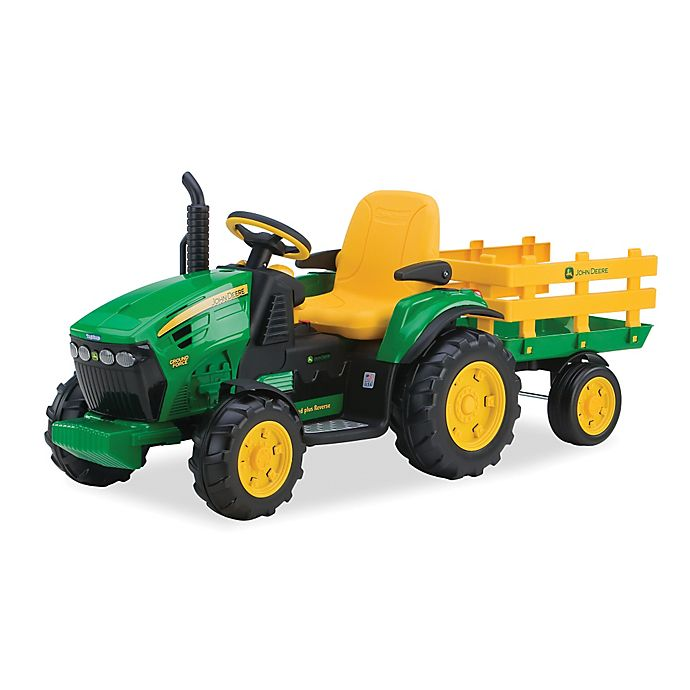 Peg Perego John Deere 12 Volt Ride On Ground Force With Trailer