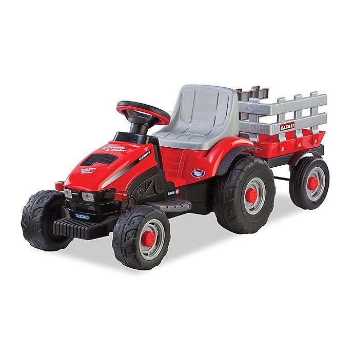 Alternate image 1 for Peg Perego Case IH 6-Volt Ride-On Lil Tractor & Trailer