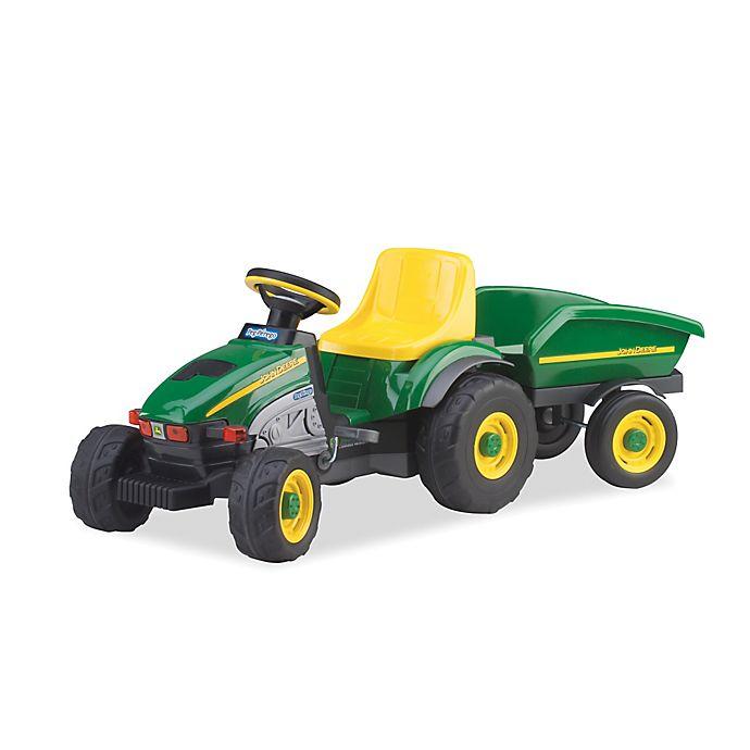 Alternate image 1 for Peg Perego John Deere Ride-On Farm Tractor & Trailer