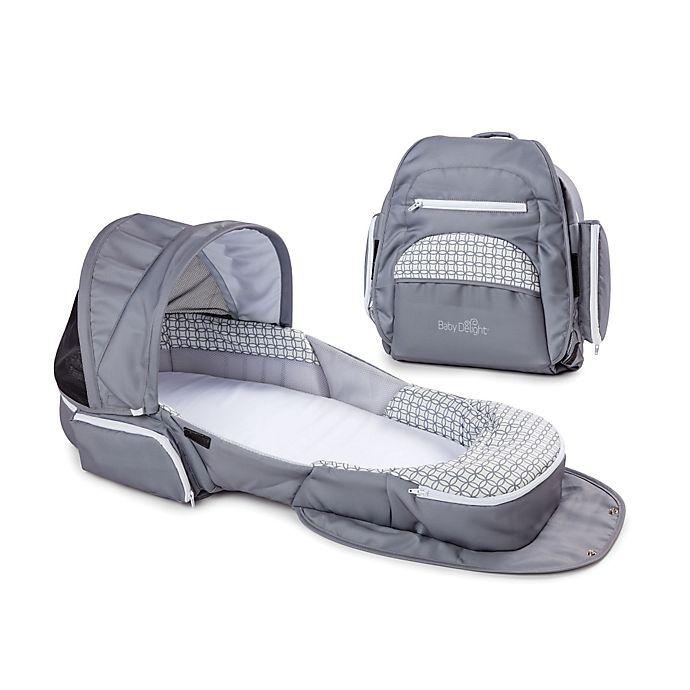Alternate image 1 for Baby Delight® Snuggle Nest® Traveler  Portable Infant Sleeper in Grey Diamond