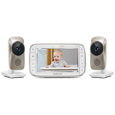 """Motorola® MBP845CONNECT-2 5"""" Portable WiFi Video Monitor with 2 Cameras in White"""