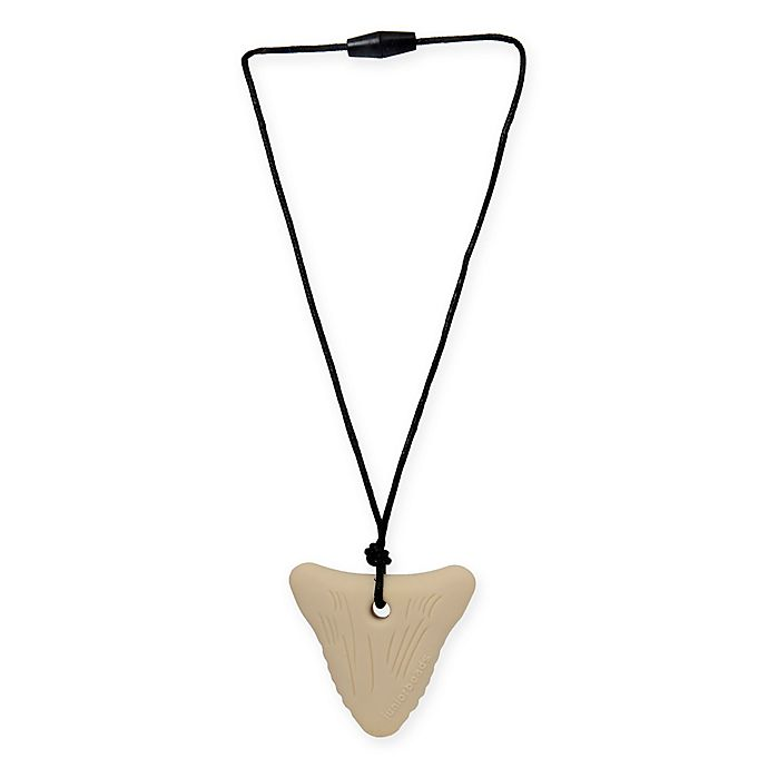 Alternate image 1 for chewbeads® Juniorbeads Sharktooth Pendant Necklace in Ivory