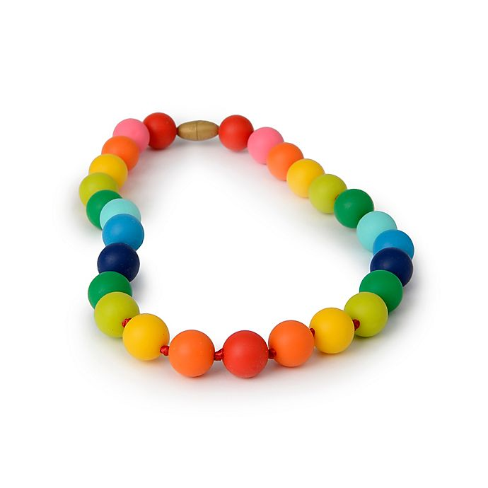 Alternate image 1 for chewbeads® Juniorbeads Christopher Jr. Rainbow Necklace
