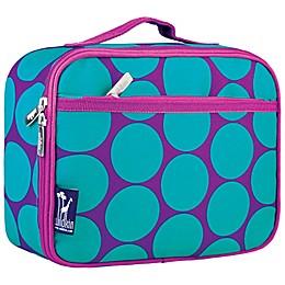 Wildkin Big Aqua Dot Insulated Fabric Lunch Box in Purple