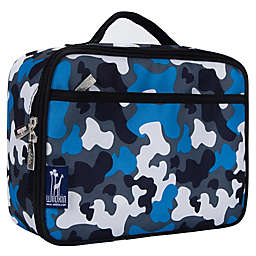 Wildkin Camo Insulated Fabric Lunch Box in Blue