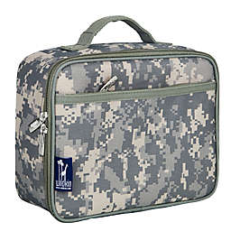 Wildkin Digital Camo Insulated Fabric Lunch Box in Green