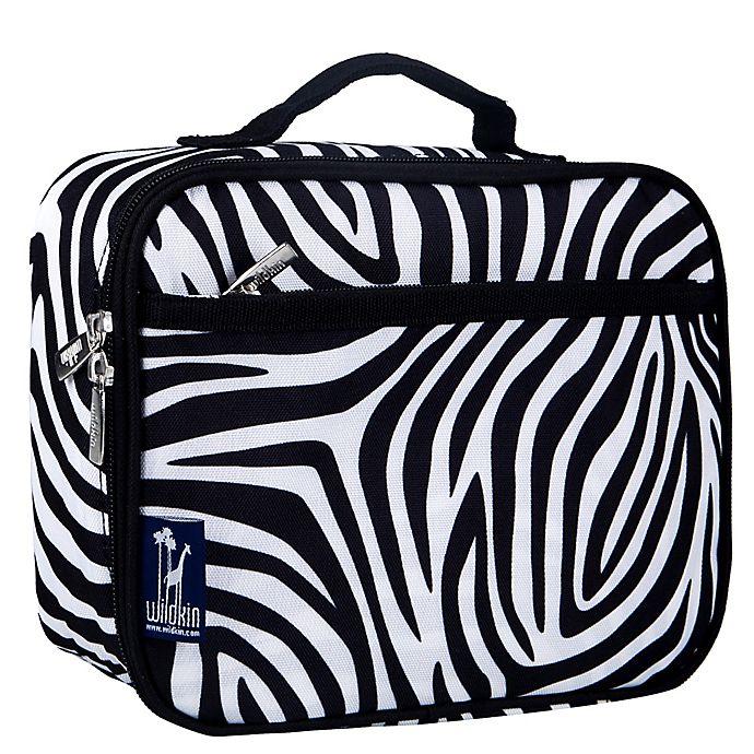 Alternate image 1 for Olive Kids Zebra Lunch Box in Black