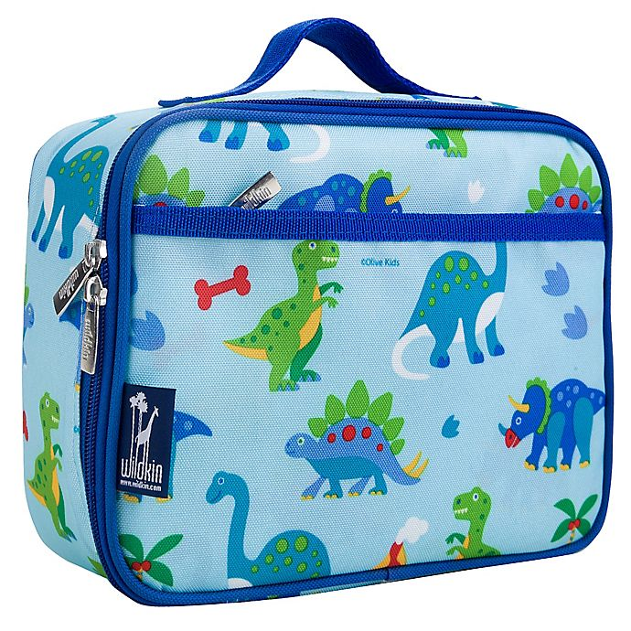 Alternate image 1 for Olive Kids Dinosaur Land Insulated Fabric Lunch Box