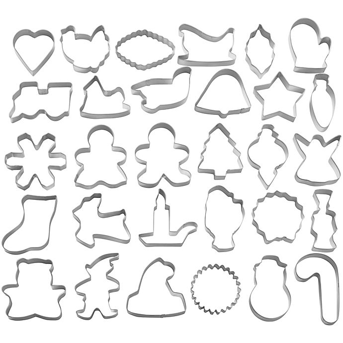 Alternate image 1 for Wilton® 30-Piece Holiday Cookie Cutter Set