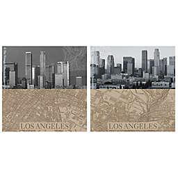 Thirstystone® LA Maps Coasters (Set of 4)