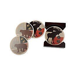 Cypress Home Moss and Bear Coasters (Set of 4)