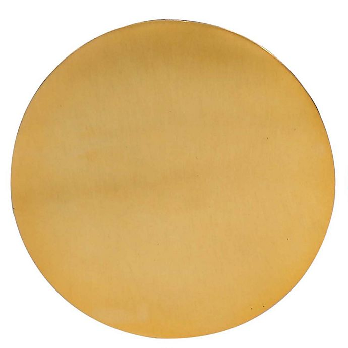 Alternate image 1 for Thirstystone® Round Hammered Coaster in Gold